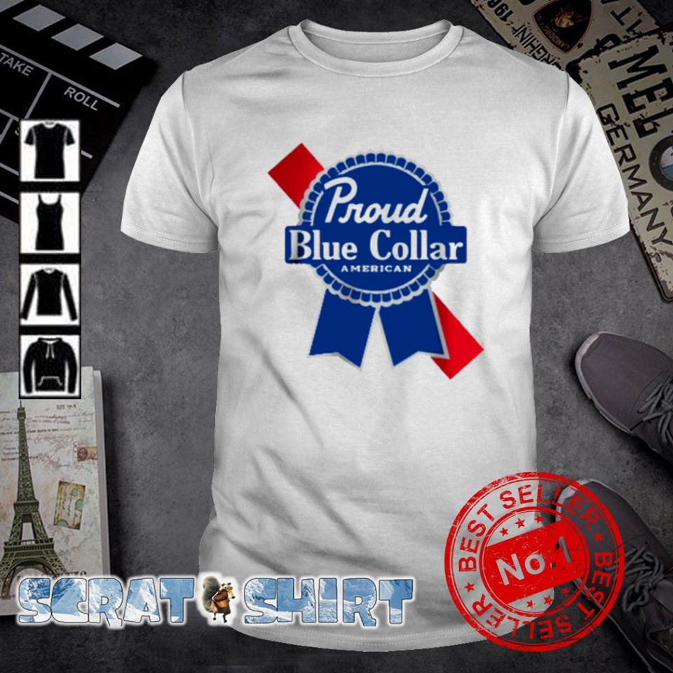 Proud blue collar American shirt