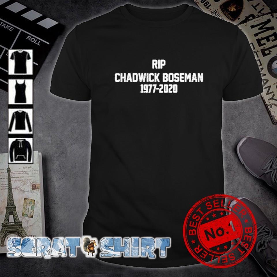 Rip Chadwick Boseman 1977 2020 shirt
