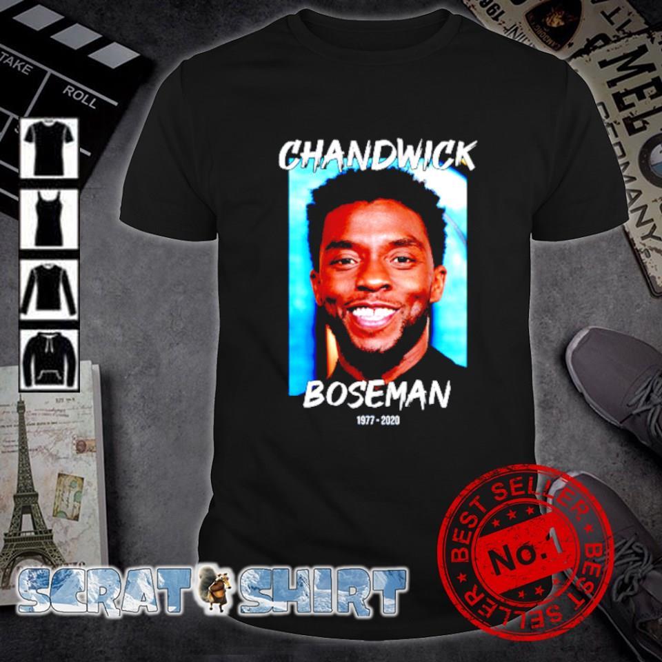 Rip Chadwick Boseman 1977 2020 thank you for the memories shirt