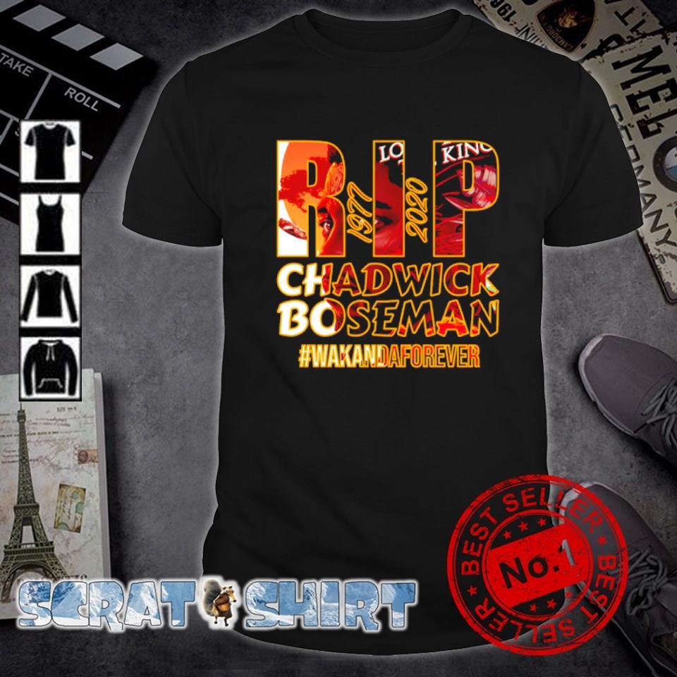 RIP Chadwick Boseman 1977 2020 wakandaforever shirt