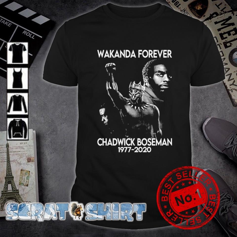 Wakanda forever Chadwick Boseman 1977 2020 shirt