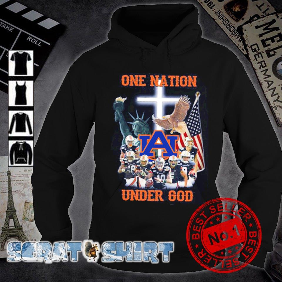 Auburn Tigers one nation under God American flag s hoodie
