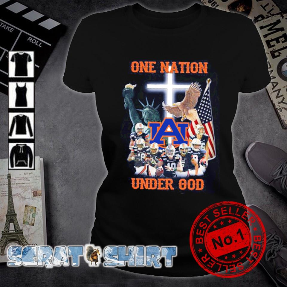Auburn Tigers one nation under God American flag s ladies-tee