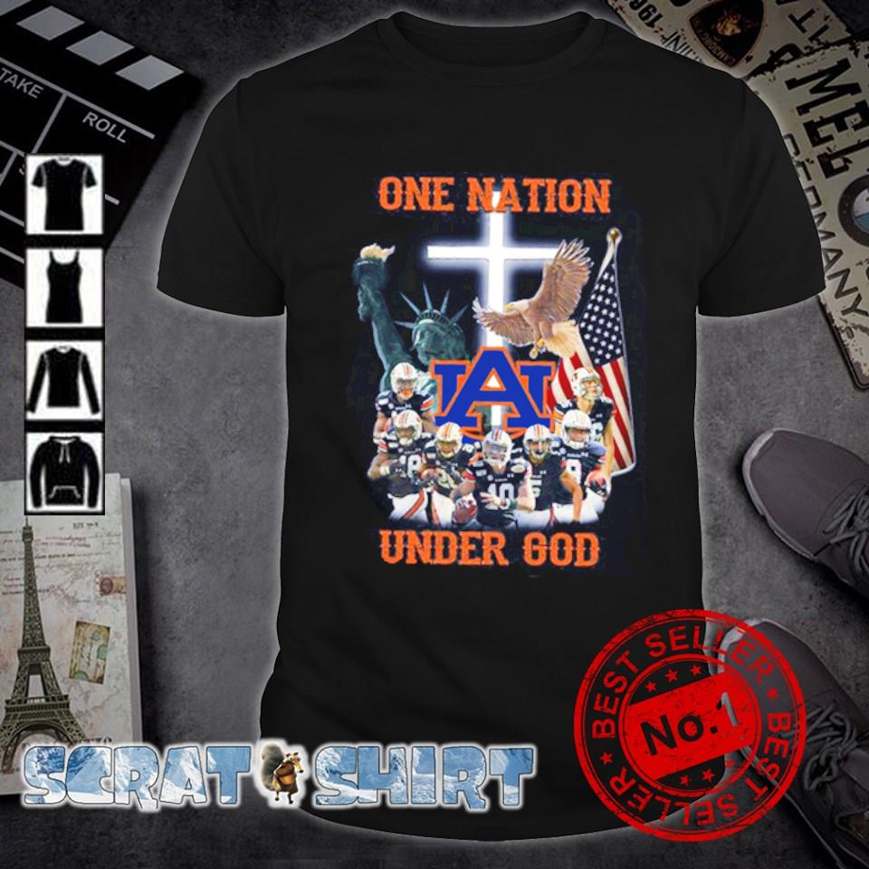 Auburn Tigers one nation under God American flag shirt