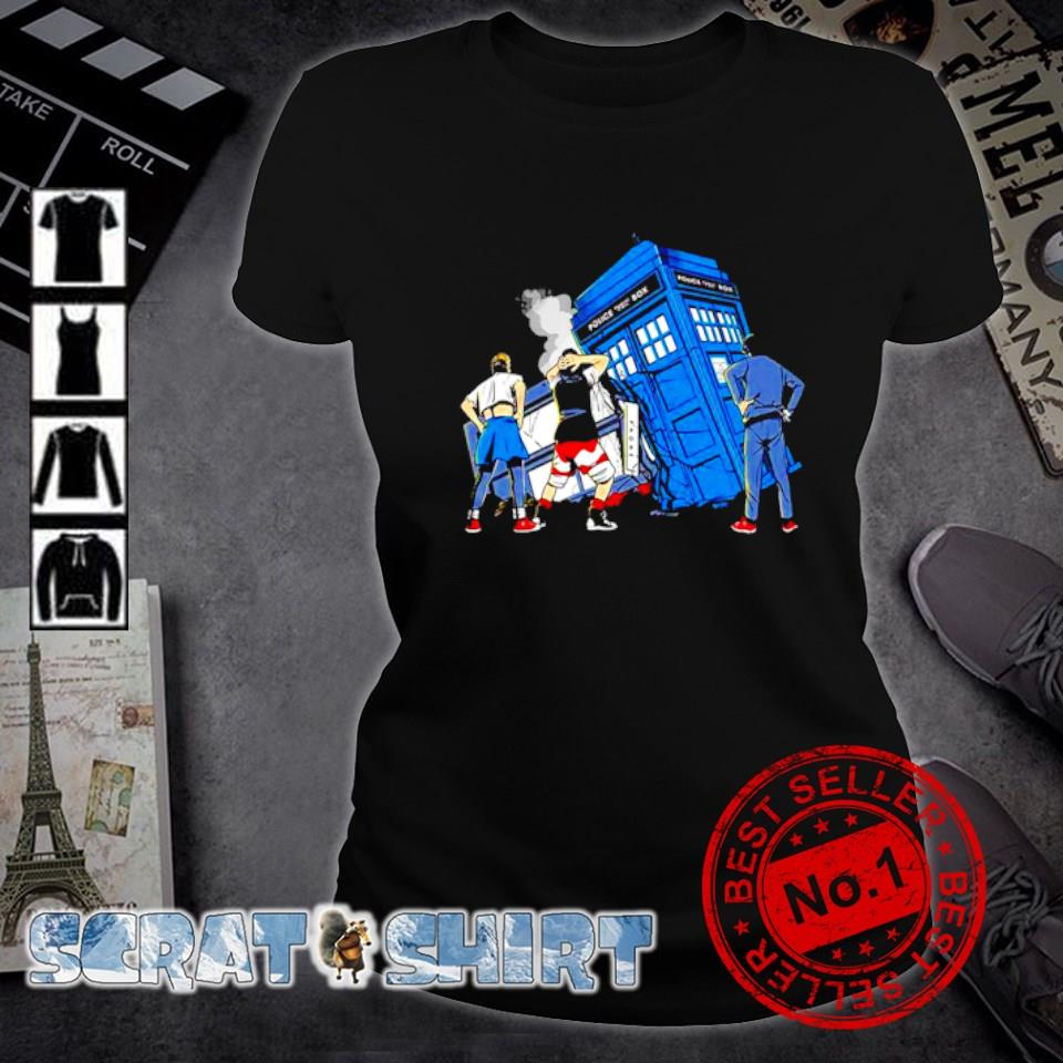 Bill and Ted Doctor Who colliding in time s ladies-tee
