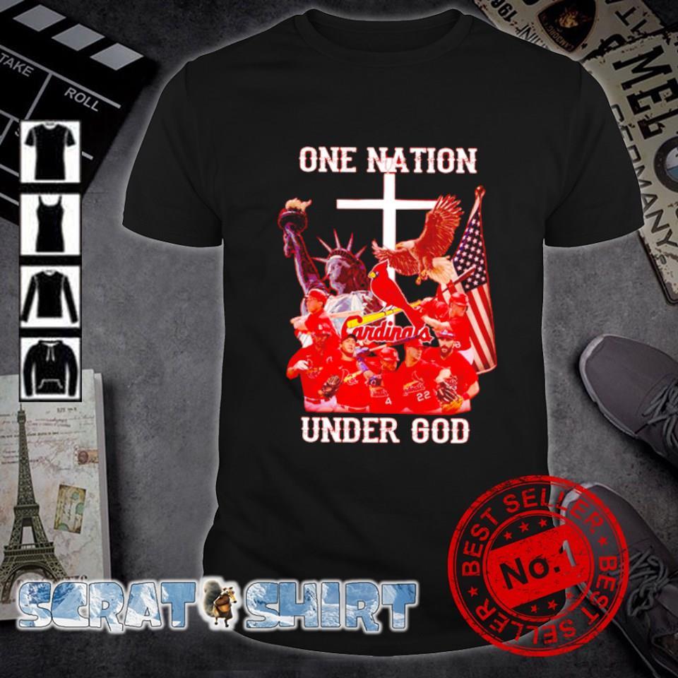 Cardinals one nation under God shirt