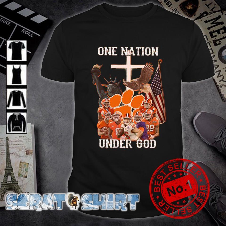 Clemson Tigers one nation under God American flag shirt