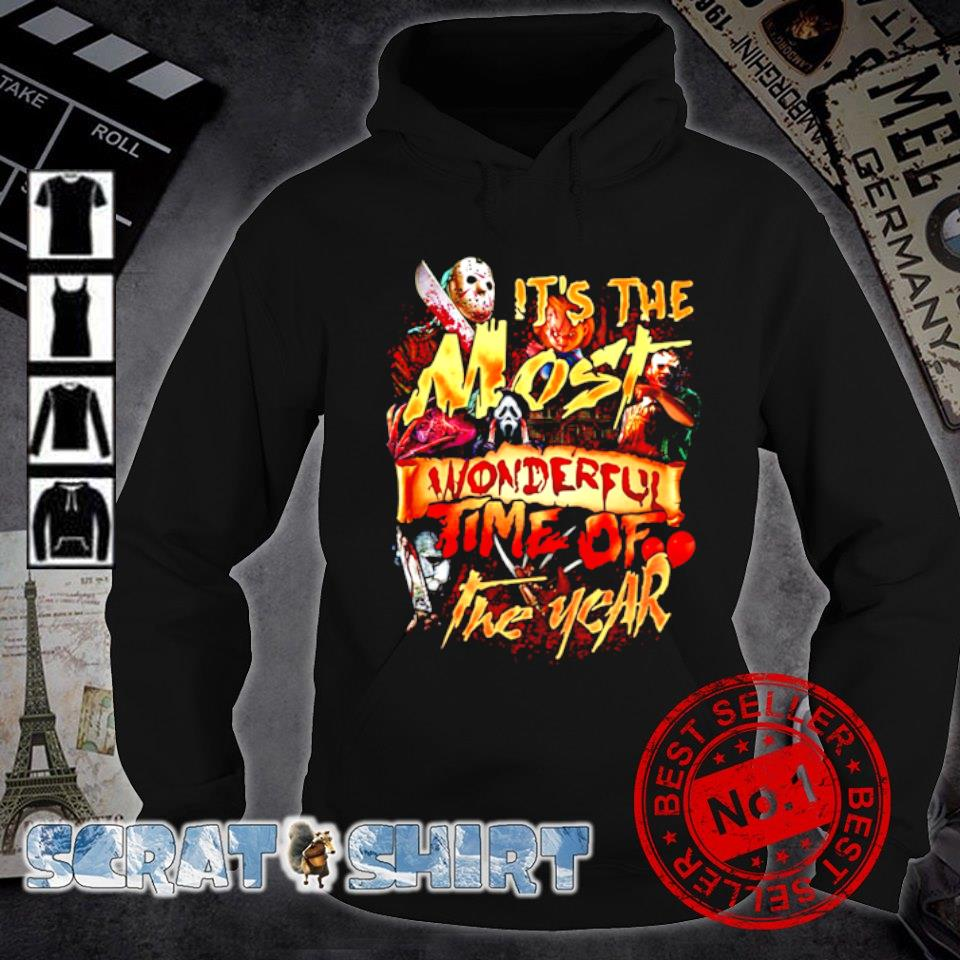 Horror characters Halloween it's the most wonderful time of the year s hoodie