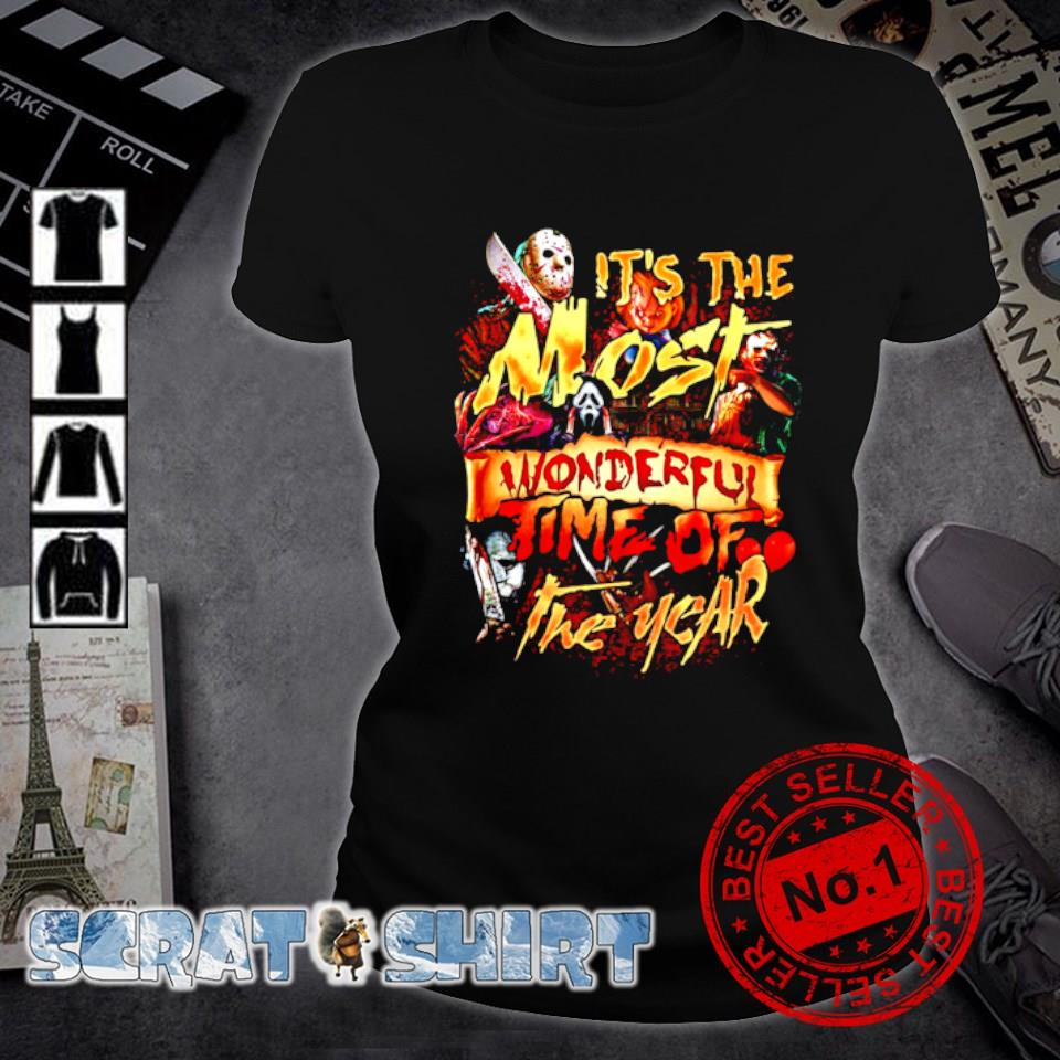 Horror characters Halloween it's the most wonderful time of the year s ladies-tee