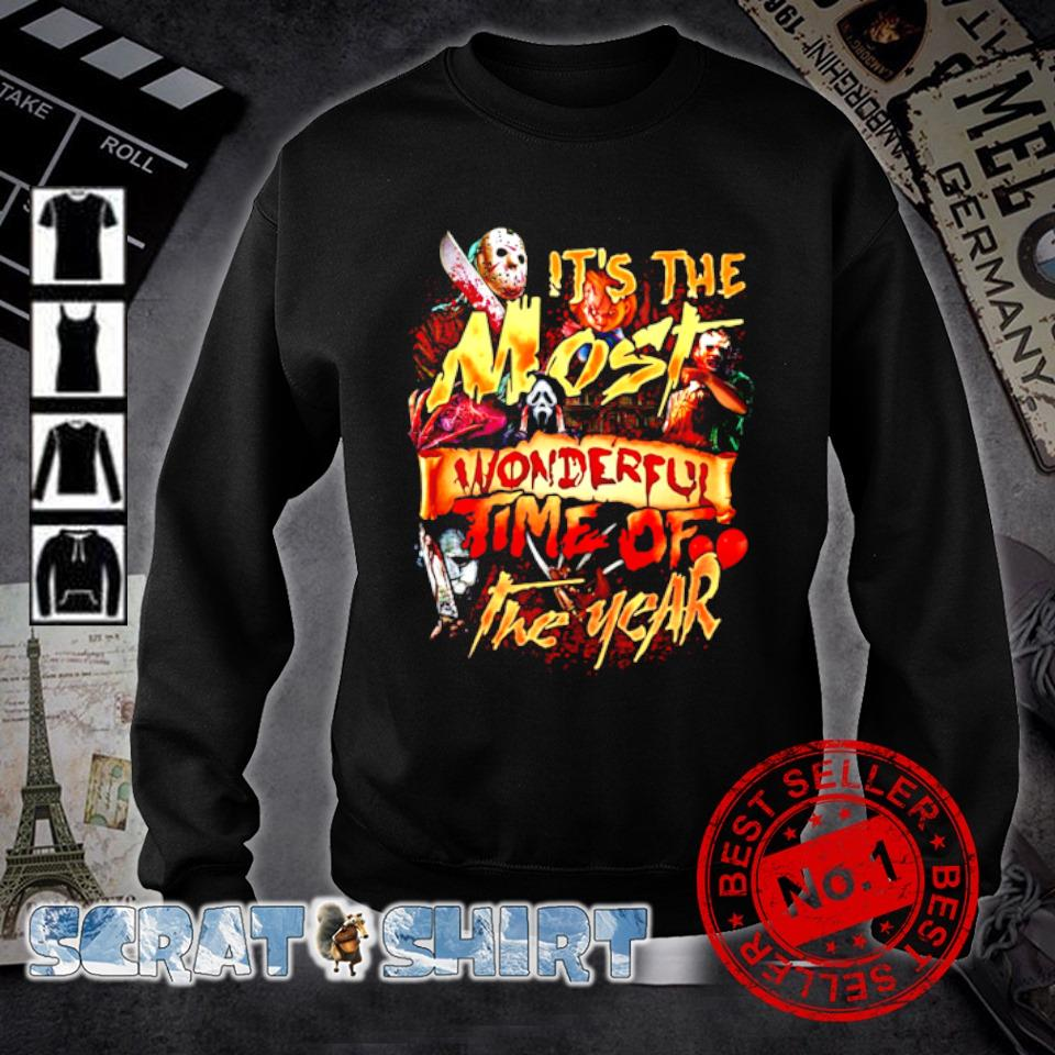 Horror characters Halloween it's the most wonderful time of the year s sweater