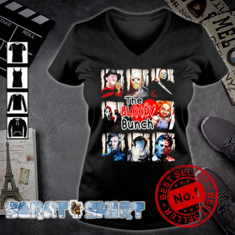 Horror characters the bloody bunch s v-neck t-shirt