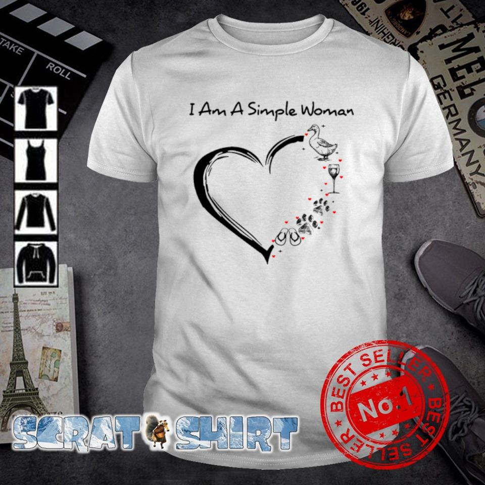I am a simple woman I love Goose Wine Dog Flip flops shirt