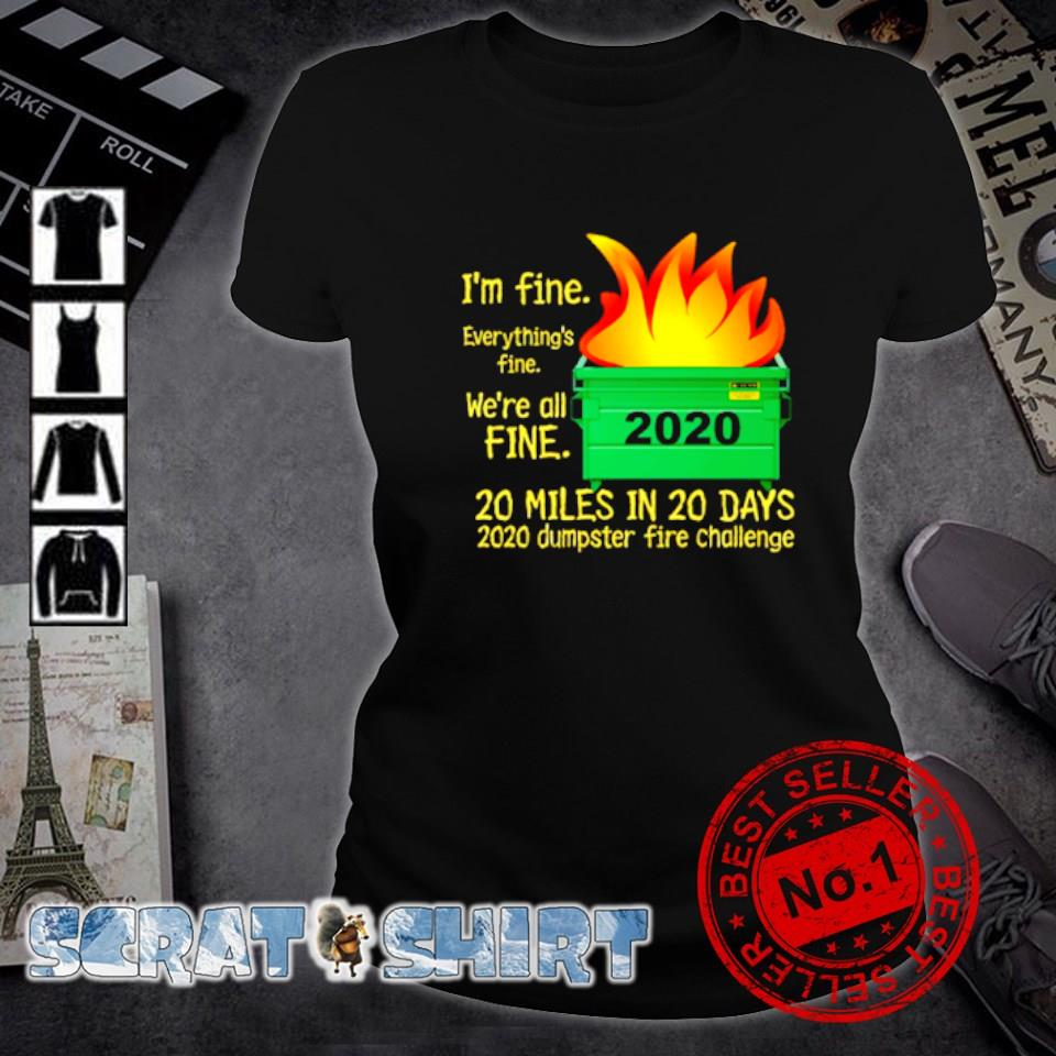 I'm fine everything's fine we're all fine 2020 s ladies-tee