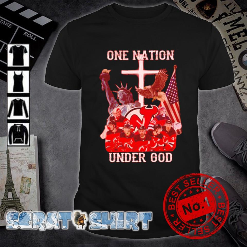 New Jersey Devils one nation under God shirt