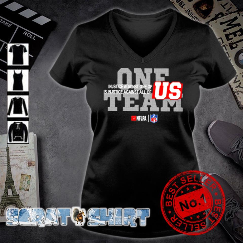 One team NFL injustice against one of is injustice against all of US s v-neck t-shirt