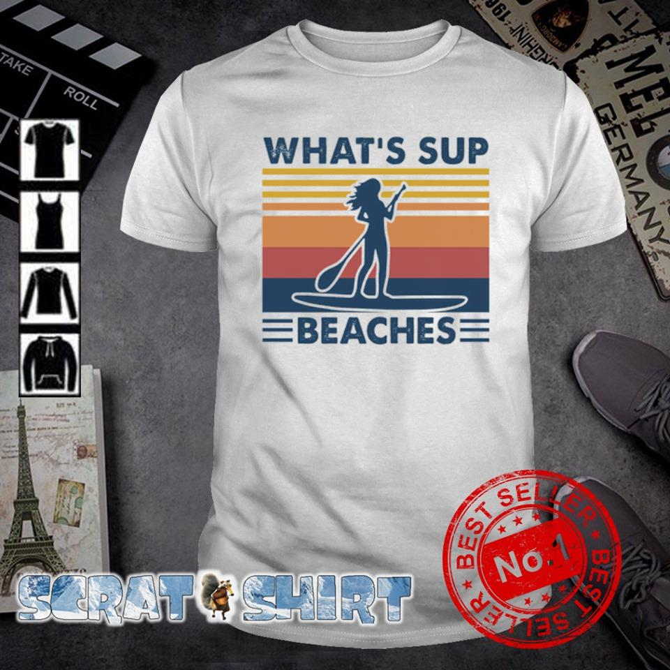 Paddle Board girl what's sup beaches vintage shirt