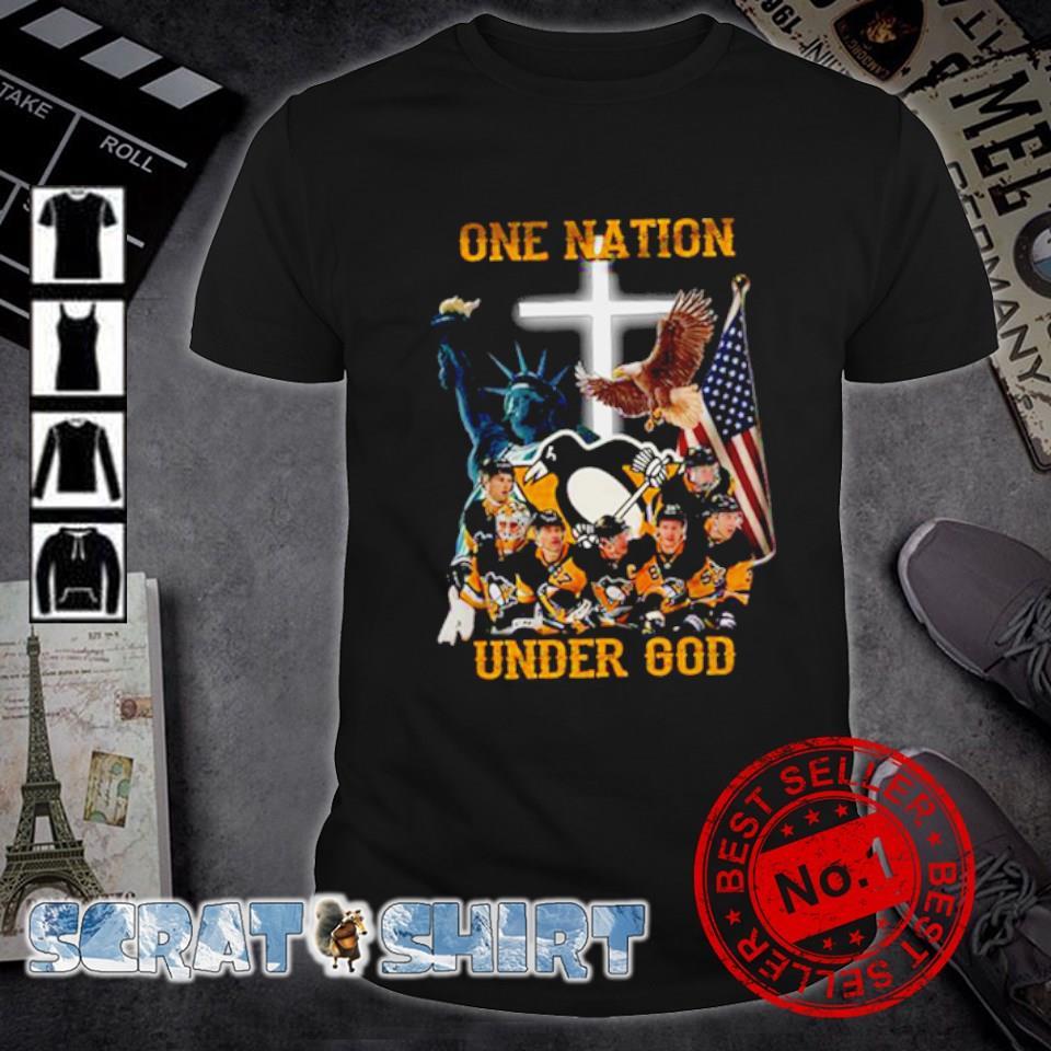 Pittsburgh Penguins one nation under God shirt