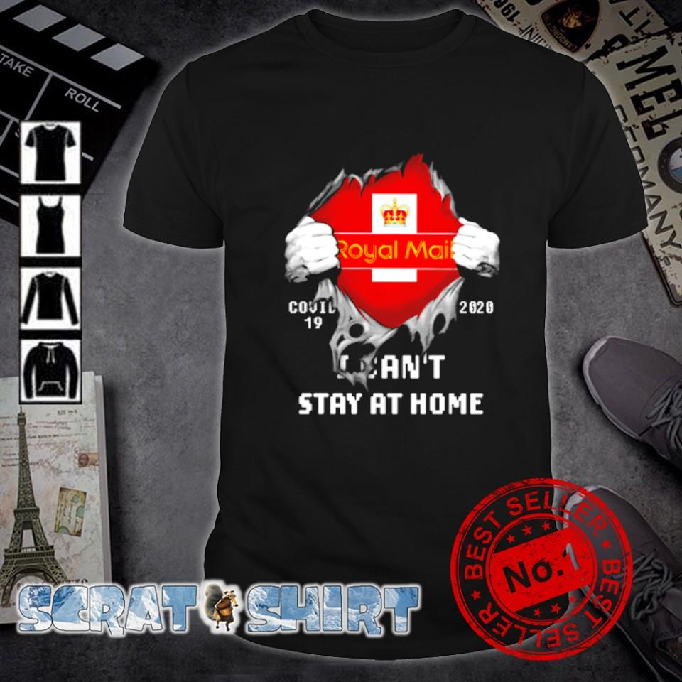 Royal Mail Covid-19 2020 I can't stay at home shirt