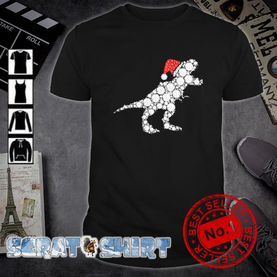 Santa Dinosaur diamond Christmas shirt