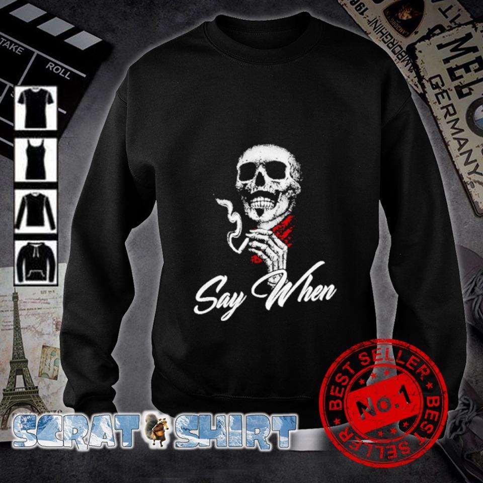 Skull Marines Say when s sweater