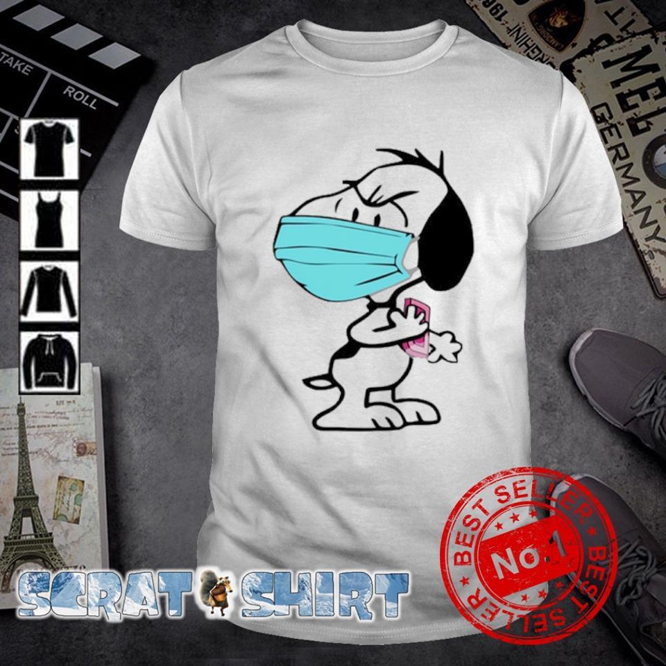 Snoopy face mask quarantined shirt