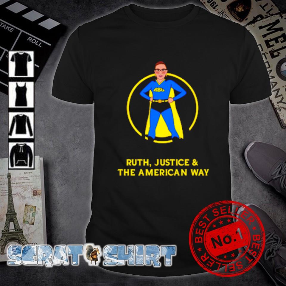 Superhero Ruth Bader Ginsburg Ruth justice and the American way shirt