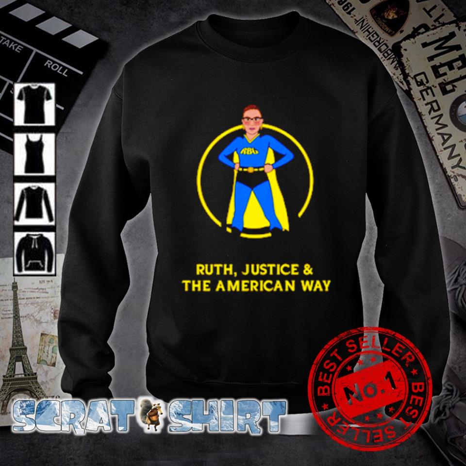 Superhero Ruth Bader Ginsburg Ruth justice and the American way s sweater