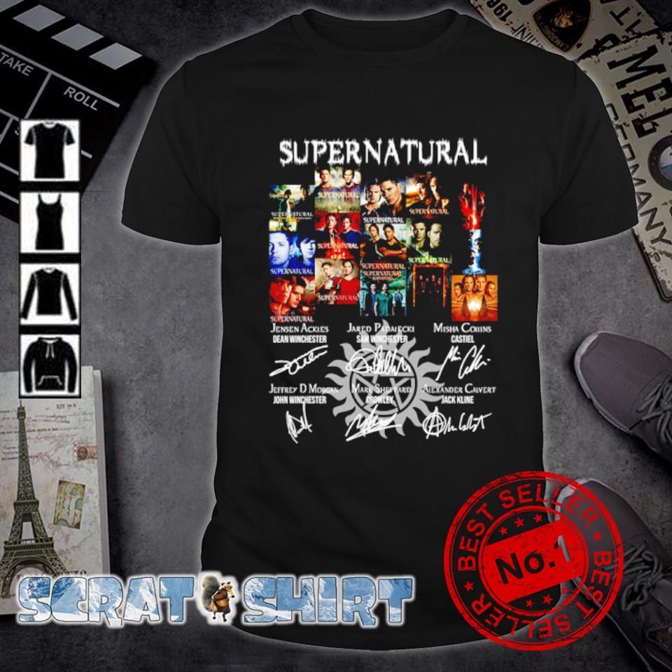 Supernatural character signature shirt