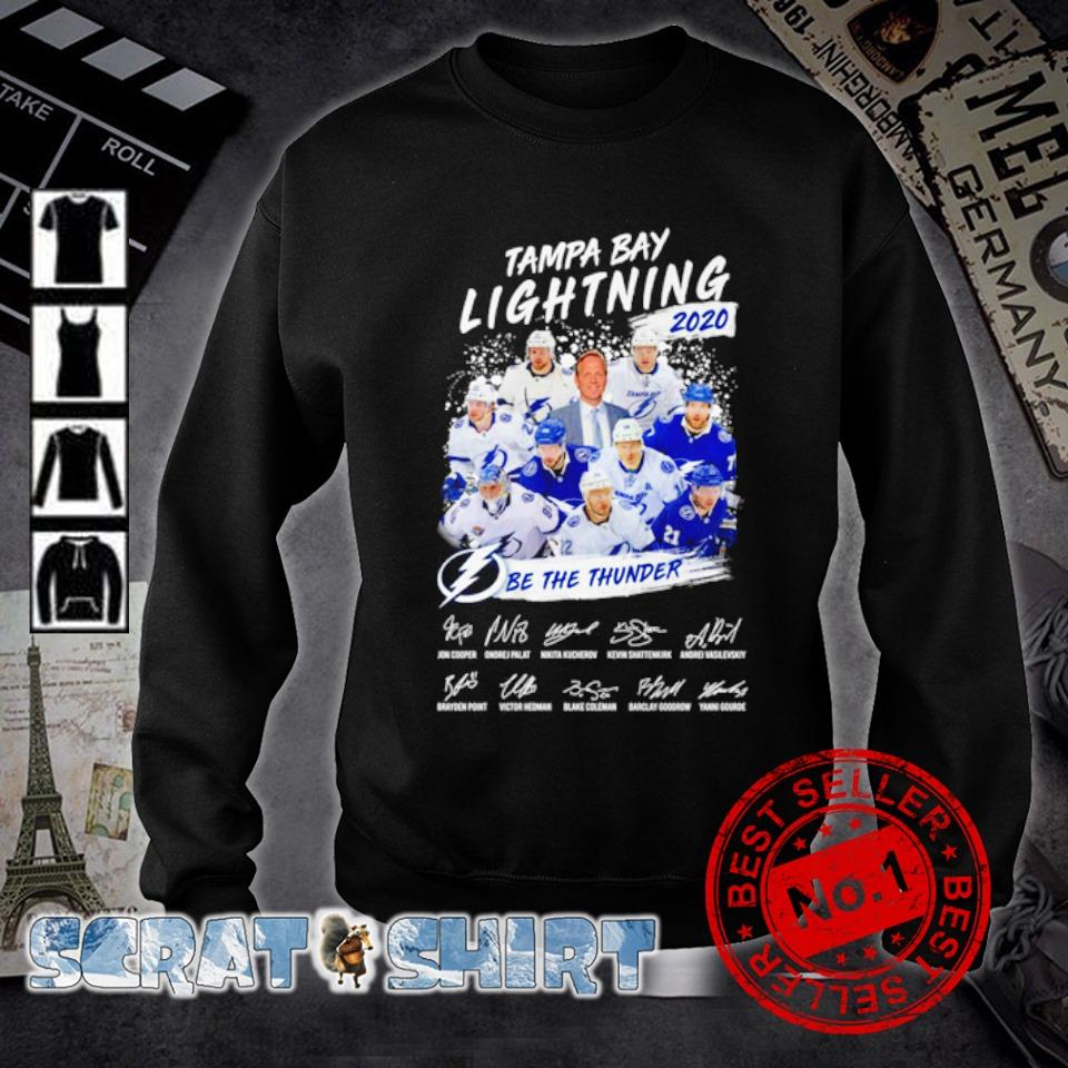 Tampa Bay Lightning 2020 be the thunder members signature s sweater