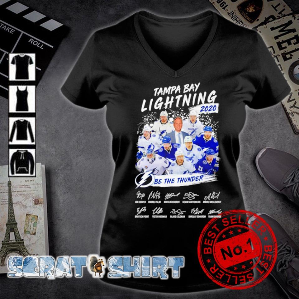 Tampa Bay Lightning 2020 be the thunder members signature s v-neck t-shirt