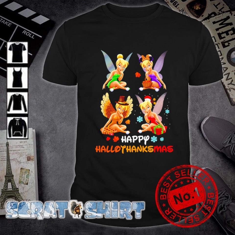 Tinker Bell Halloween Thanksgiving Christmas happy Hallothanksmas shirt