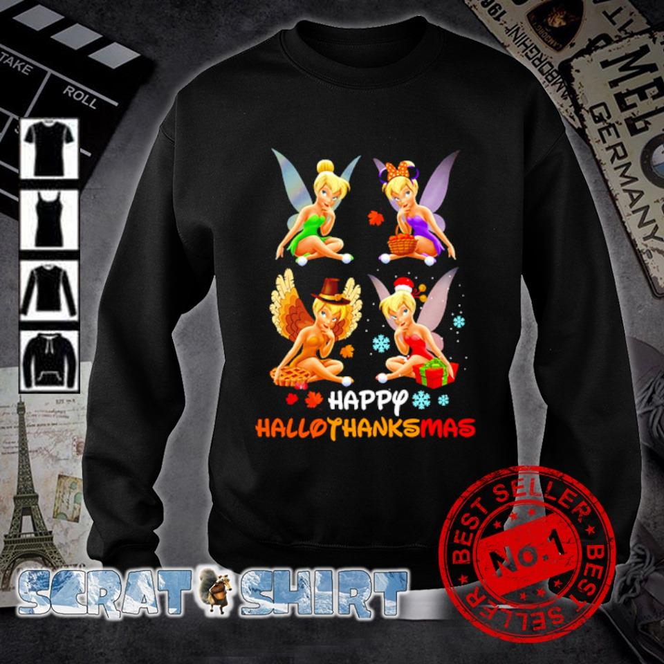 Tinker Bell Halloween Thanksgiving Christmas happy Hallothanksmas s sweater