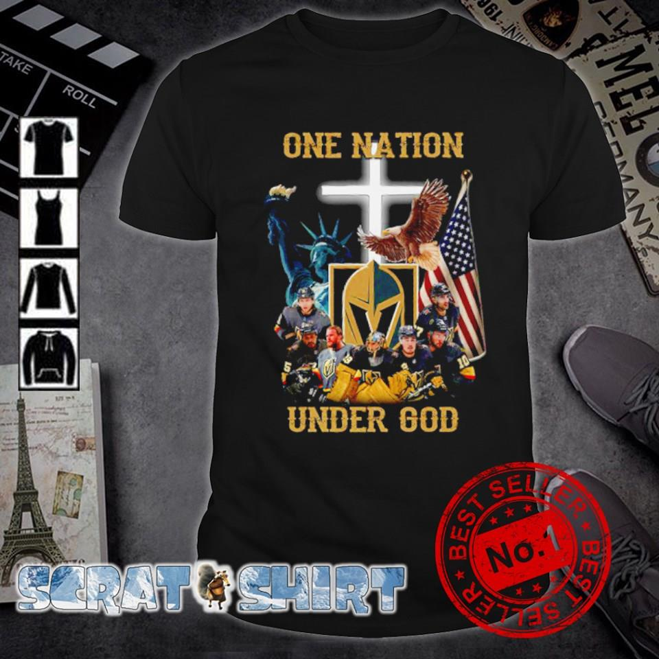 Vegas Golden Knights one nation under God shirt