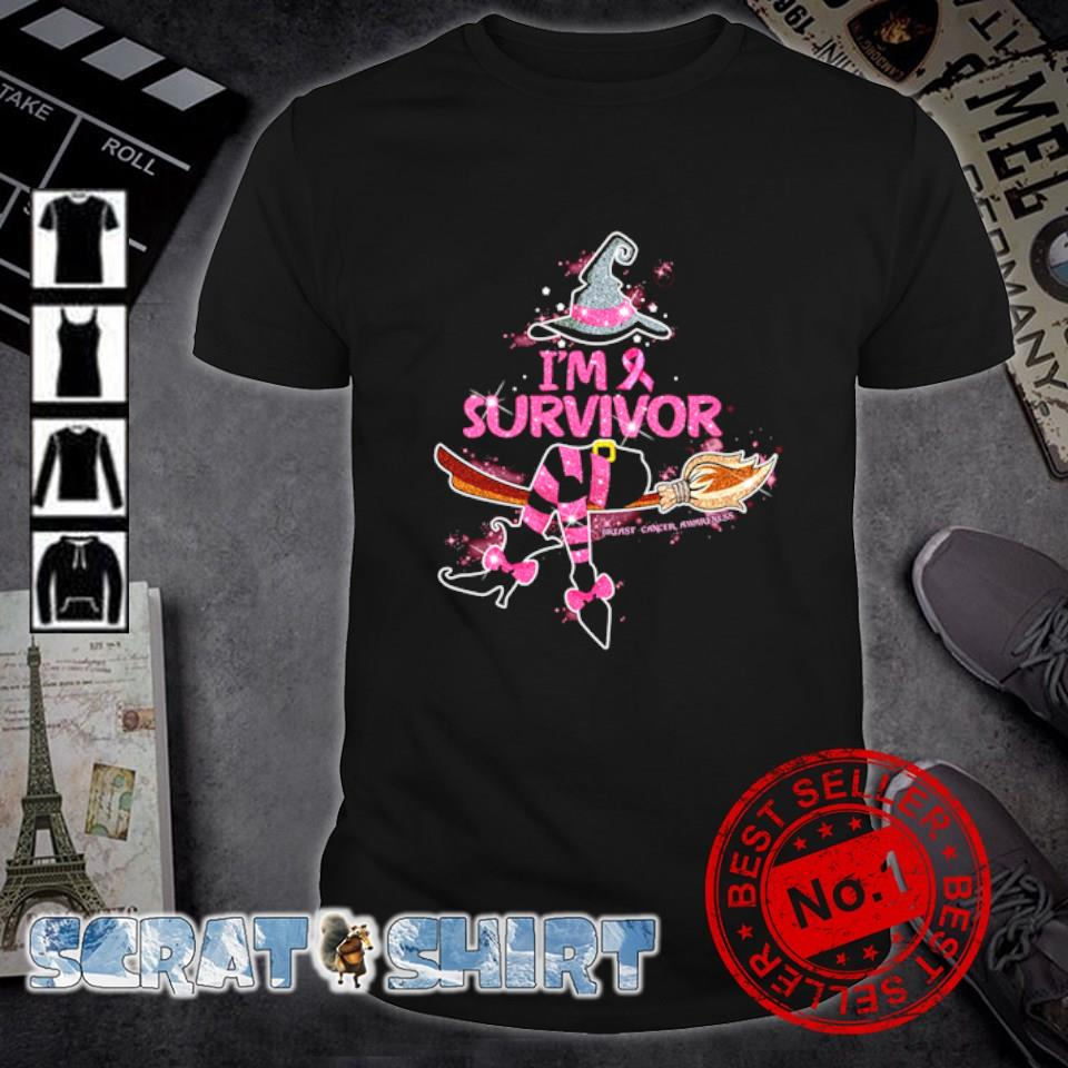 Witch I'm survivor breast cancer awareness shirt