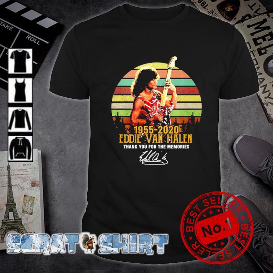 1955 2020 Eddie Van Halen thank you for the memories signature vintage shirt