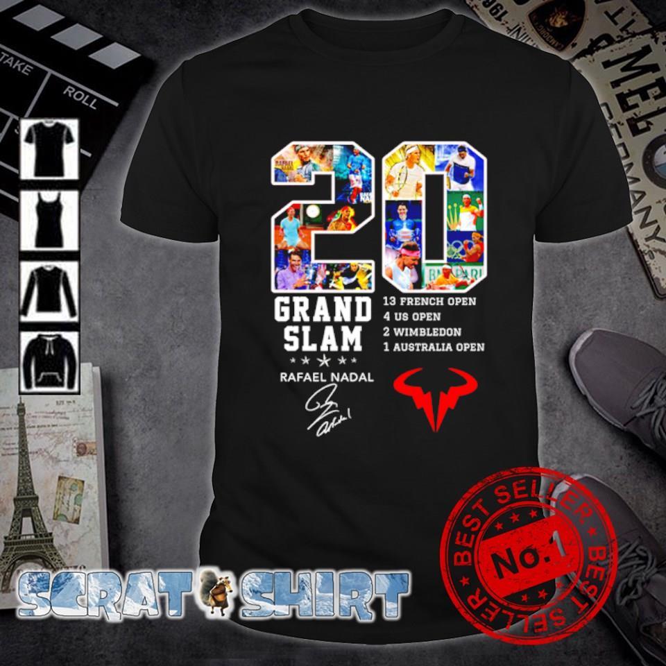 20 years Grand Slam Rafeal Nadal signature shirt