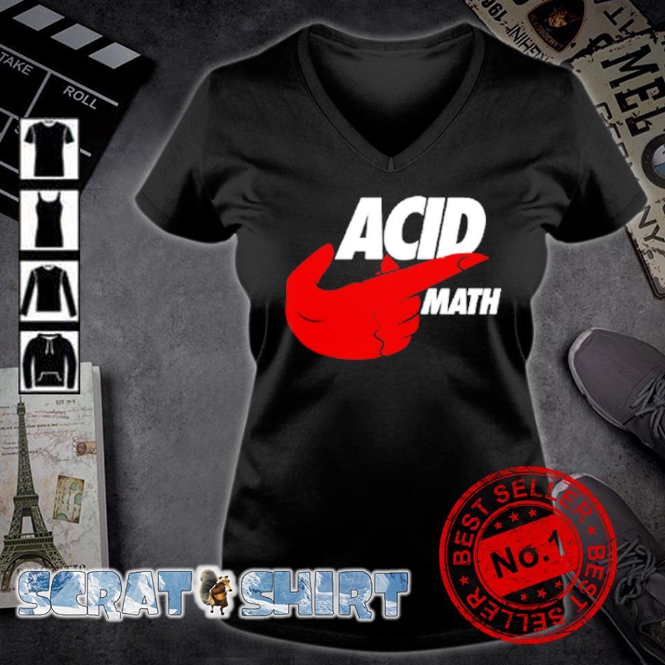 ACID math s v-neck t-shirt