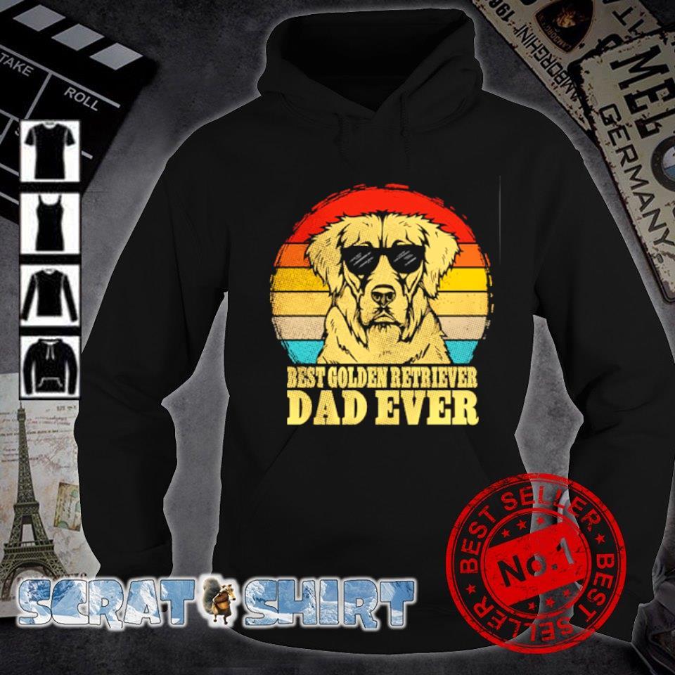 Best Golden Retriever Dad ever vintage s hoodie