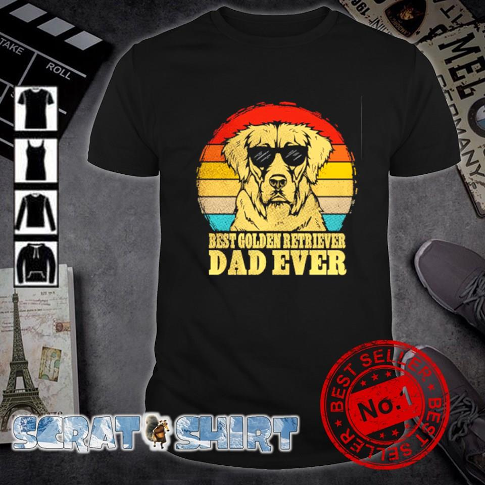 Best Golden Retriever Dad ever vintage shirt