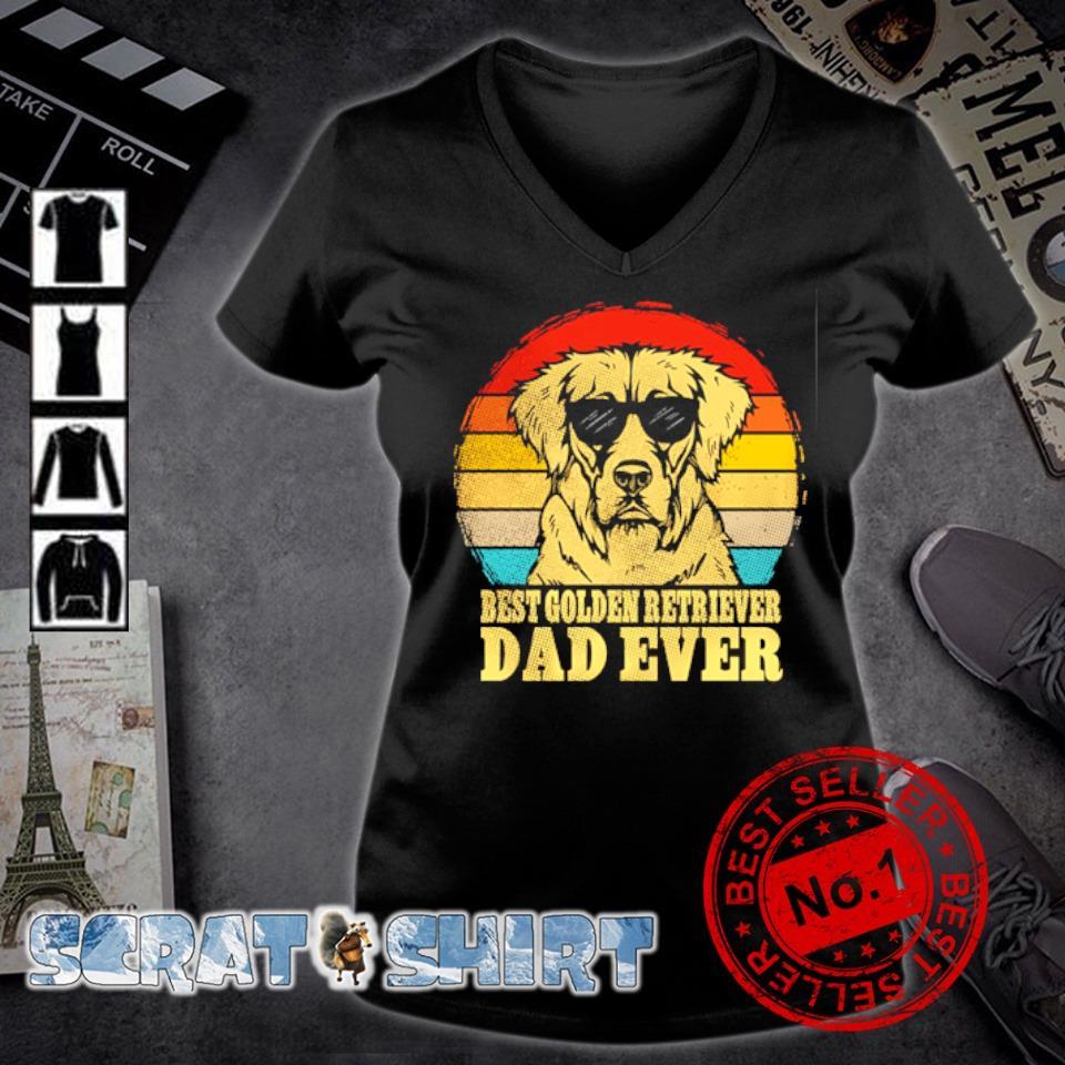 Best Golden Retriever Dad ever vintage s v-neck t-shirt