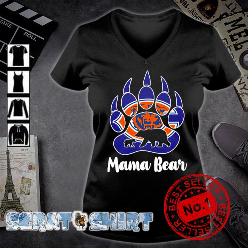 Chicago Bears Mama bear s v-neck t-shirt