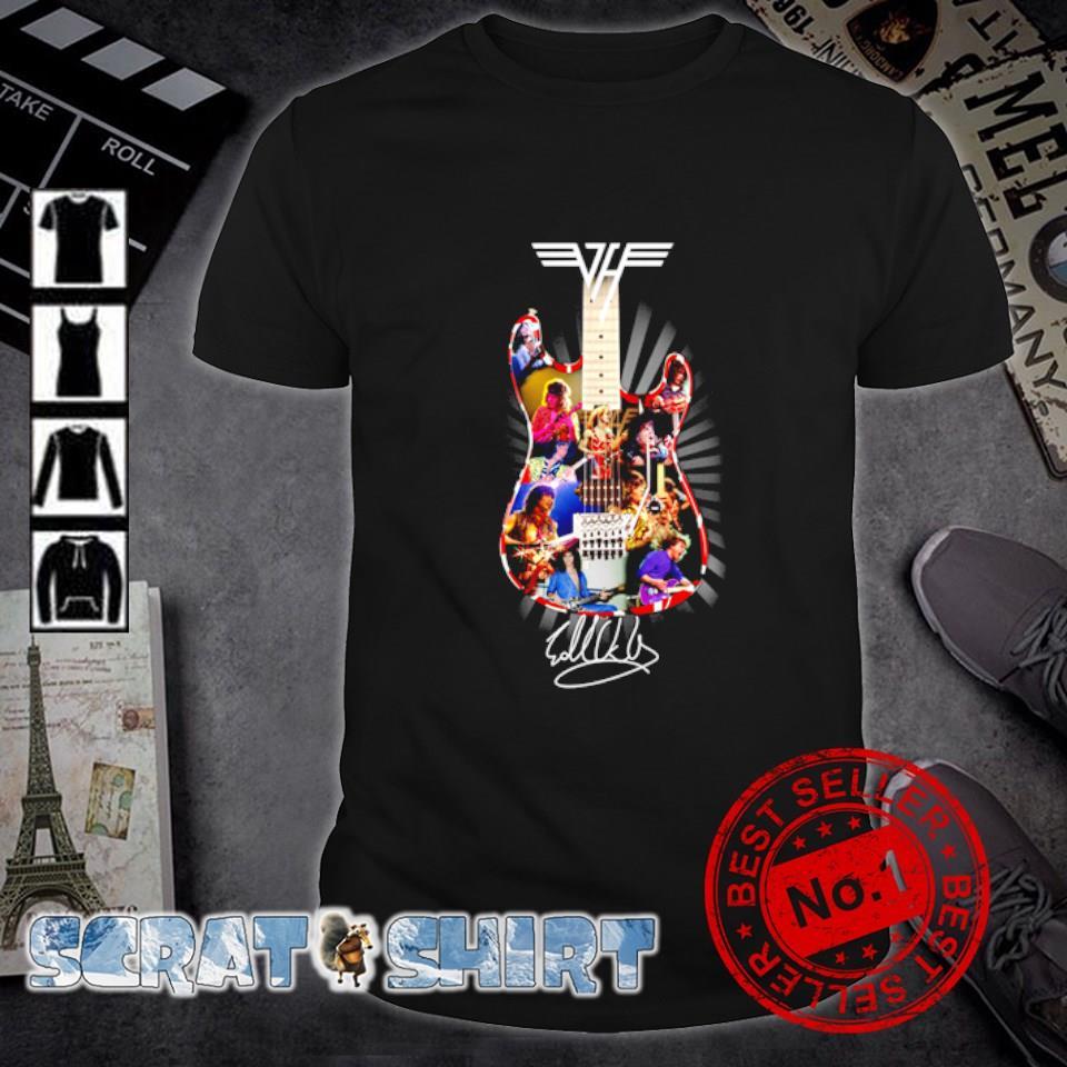 Eddie Van Halen guitar signature shirt