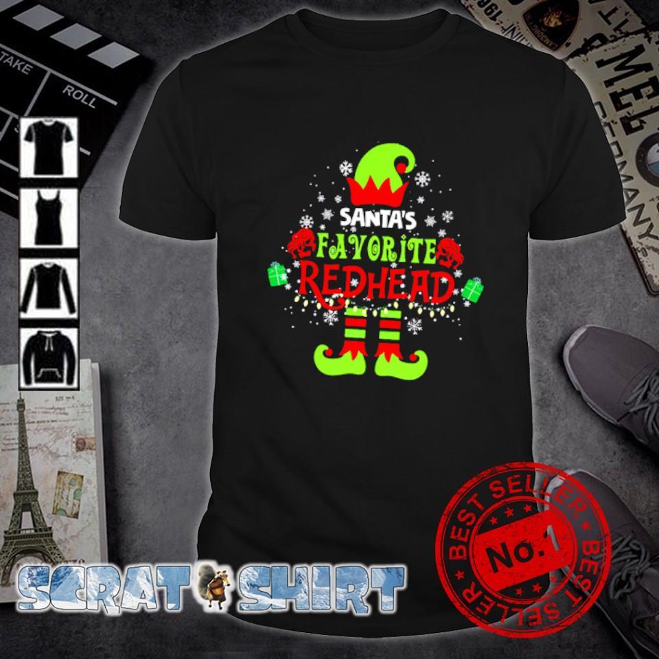 Elf Santa's favorite redhead Christmas shirt