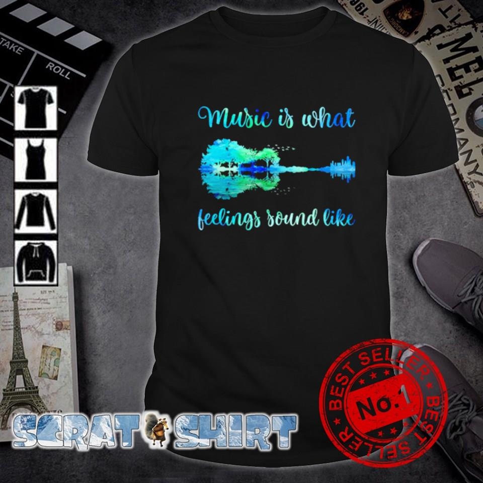 Guitar nature music is what feelings sound like shirt