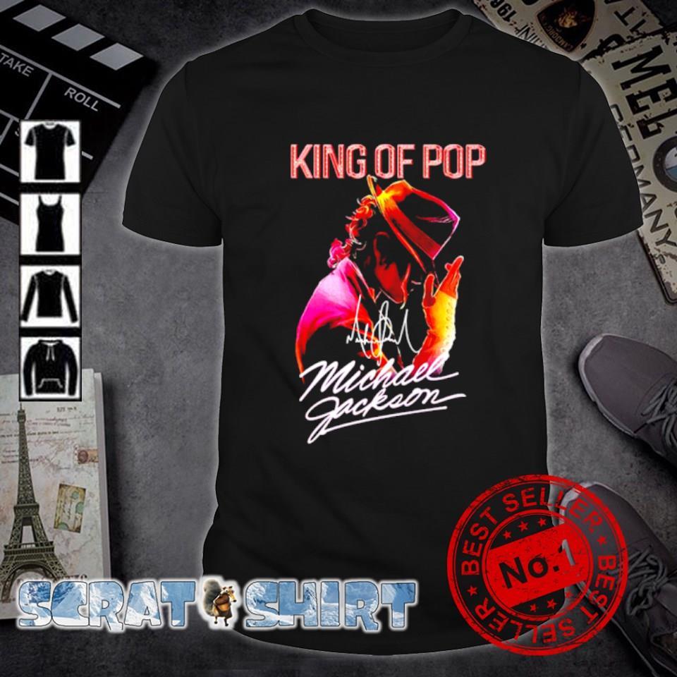 King of pop Michael Jackson signature shirt
