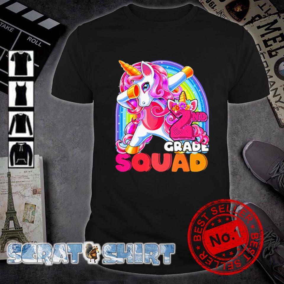 LGBT Unicorn dabbing 2nd grade squad shirt