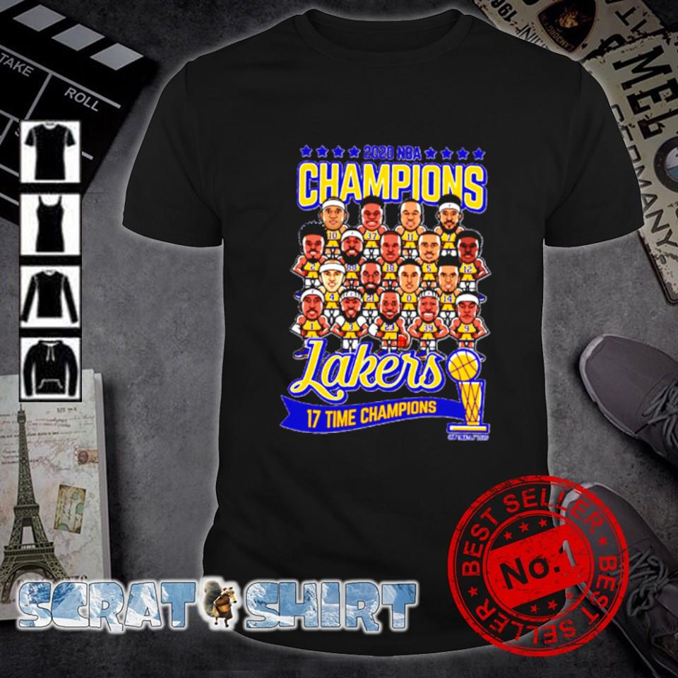 Los Angeles Lakers 2020 NBA champions 17 time champions shirt