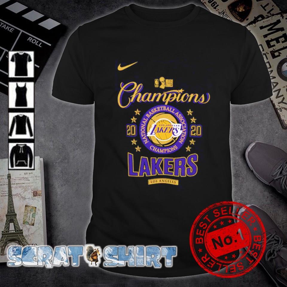 Los Angeles Lakers champions 2020 national basketball association shirt