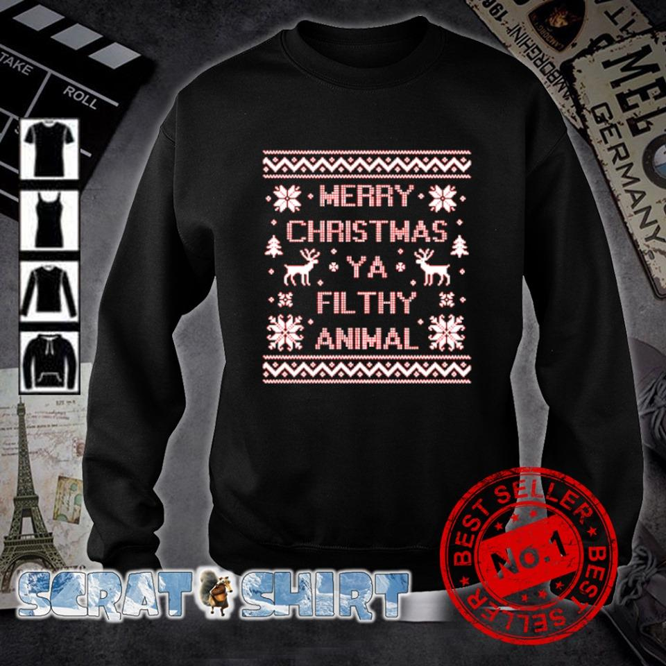 Merry Christmas ya filthy animal s sweater