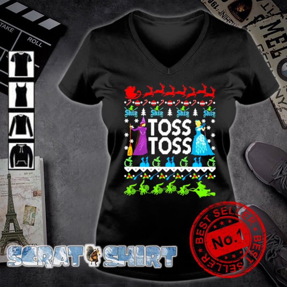 Princess Witch Toss Toss Christmas s v-neck t-shirt